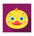 Duck muzzle icon in flat style isolated on white vector image