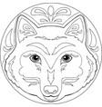 mandala wolf vector image vector image
