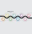 navigation map infographic 8 steps timeline vector image