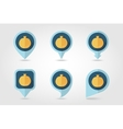 Garnet mapping pins icons vector image