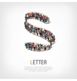 letter people sign 3d vector image