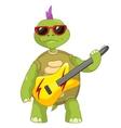 Funny Turtle Rock Star vector image