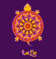 Background with African turtle vector image