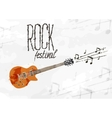 Creative abstract poster rock festival vector image