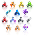 hand spinner toys icon set vector image