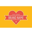 Hipster modern heart thin style logo vector image