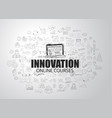 innovation concept with business doodle design vector image
