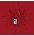 mobile music design vector image