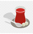 turkish tea isometric icon vector image
