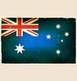 vintage australia flag poster background vector image