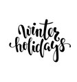 winter holidays hand drawn creative calligraphy vector image