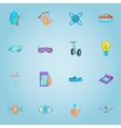 Innovative device icons set cartoon style vector image