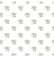 Toy elephant on wheels pattern cartoon style vector image
