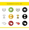 Soccer championship icons vector image