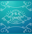 hand drawn lineart composition and lettering vector image