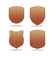 set of empty wooden shapes vector image