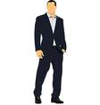 Man in suit vector image