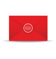 seal red closed envelope vector image