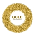Golden Circle Frame Jewelry Gold Emble vector image
