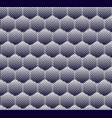 abstract halftone hexagon pattern seamless vector image