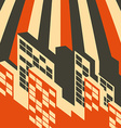 abstract retro city background vector image
