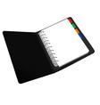 black notepad vector image