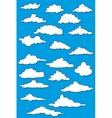 Fabulous clouds set vector image