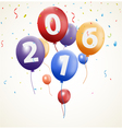 Happy new year background with balloon vector image