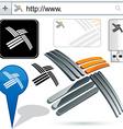 Original propeller design element vector image