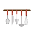 set cutlery kitchen tool isolated icon vector image
