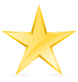 Shiny Gold Star vector image
