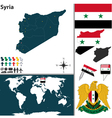 Syria map world vector image