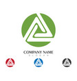triangle logo template icon design vector image