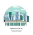 Urban Railway Transport Orthogonal Design vector image
