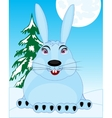 Wildlife hare in snow vector image