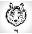 wolf drawing vector image vector image