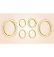 gold oval decorative frames - set vector image vector image