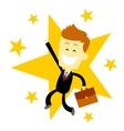 Happy Success Business Man vector image