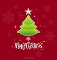 Christmas green tree design vector image