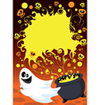 Halloween ghost card vector image vector image