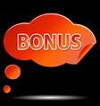Bonus icon vector image