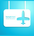 Air plane applique background Aircraft vector image