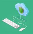 cloud computing technology isometric vector image
