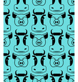Cow and pig seamless pattern head of boar and bull vector image