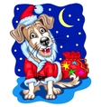 Dog with Christmas gifts vector image