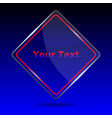 glass trophy award trophy award on blue background vector image