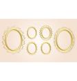 gold oval decorative frames - set vector image