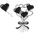 Heart balloons bouquet vector image