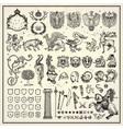 Heraldic elements collection vector image