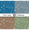 seamless pattern set with gears vector image
